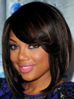 Short Hairstyles For Black Girls with Round Faces